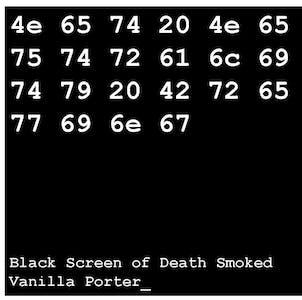 Net Neutrality Brewing Black Screen Of Death Smoked Vanilla Porter