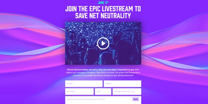 Net Neutrality Live Stream Fight for the Future