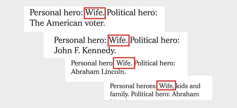 2020 democrats wife