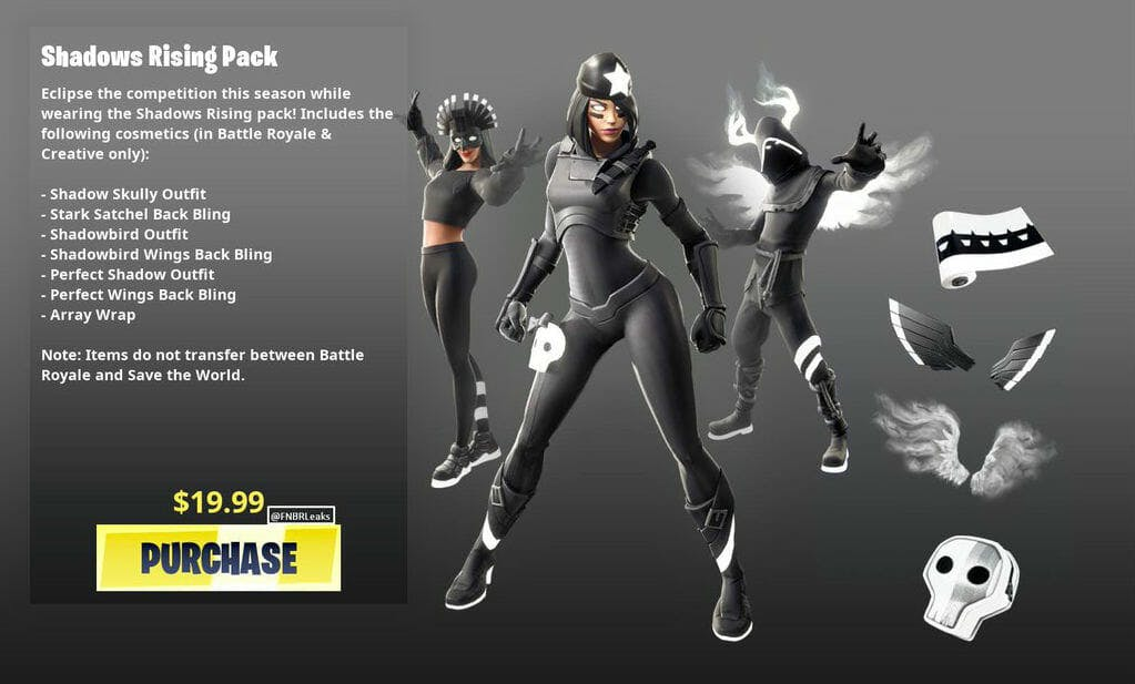 fortnite shadows rising pack bundle