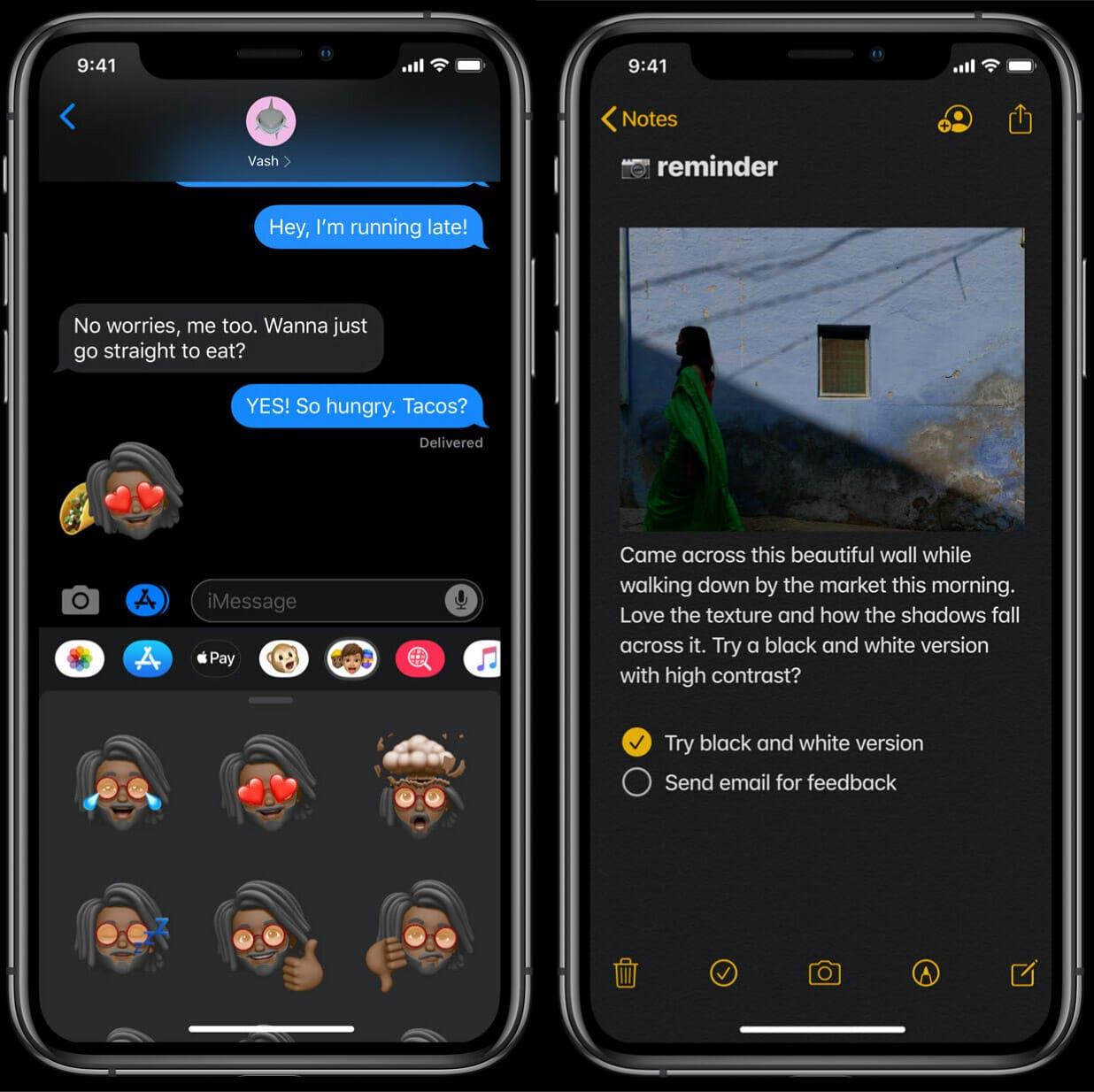 iOS 13 features - beta dark mode