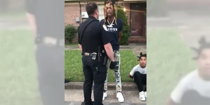 Police offer tells a Black man that 'f*ck you is my name.'