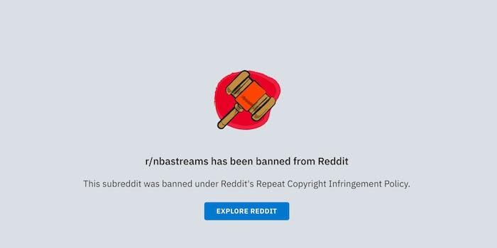 reddit bans nba streams