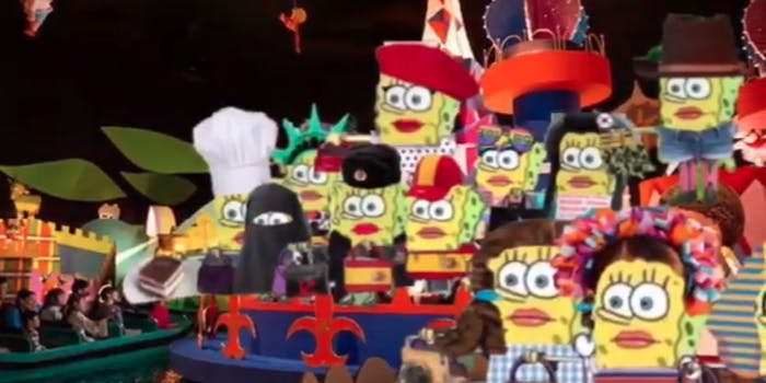 spongebob small world meme