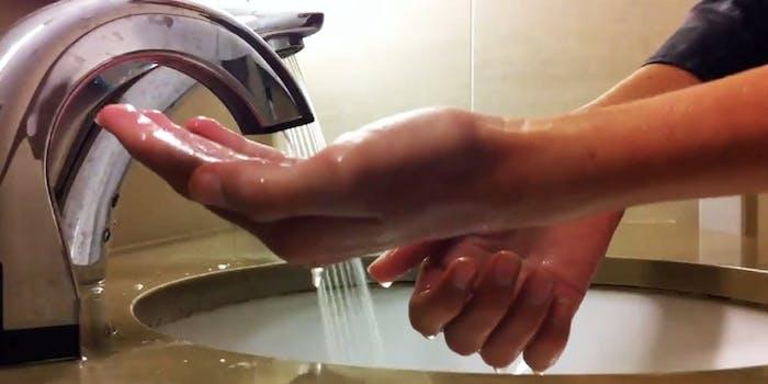 washing hands debate