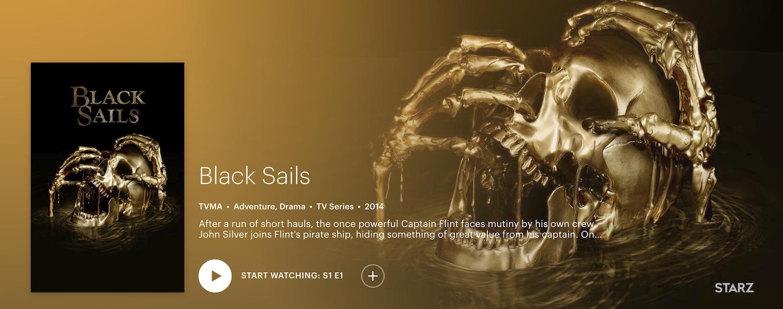 watch black sails free on Hulu