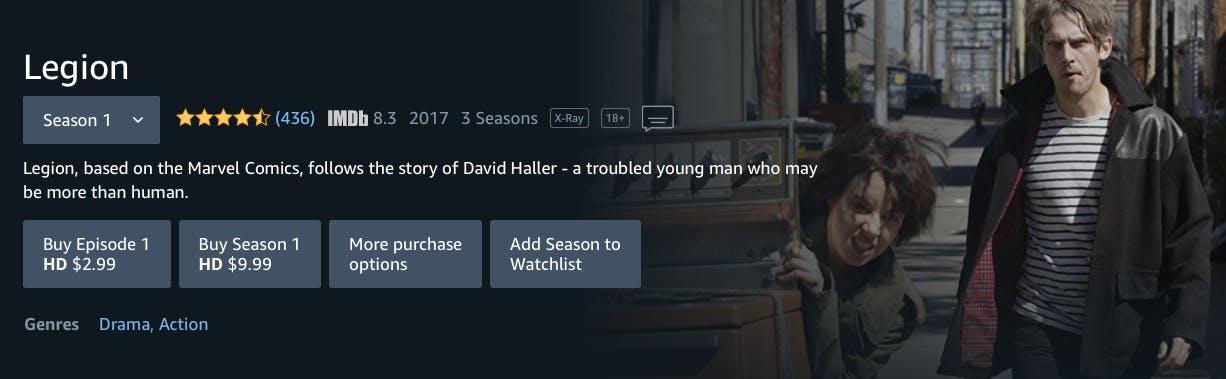 watch legion season 3 free on Amazon