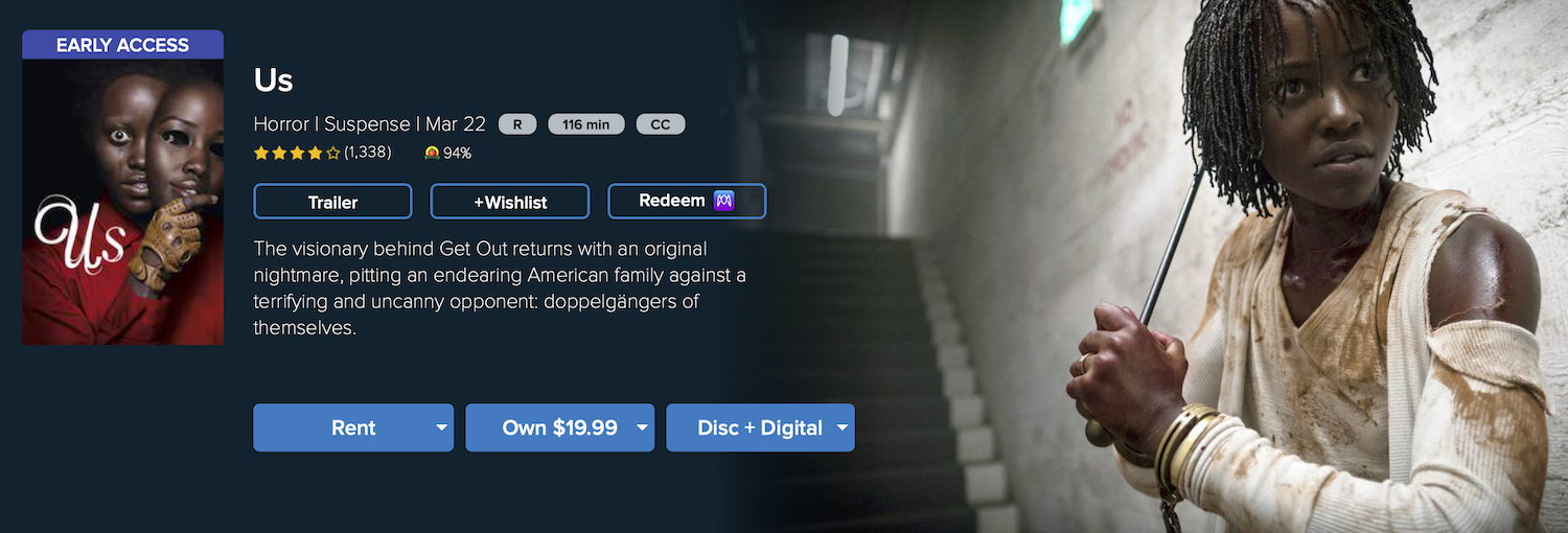 watch us rent buy on Vudu