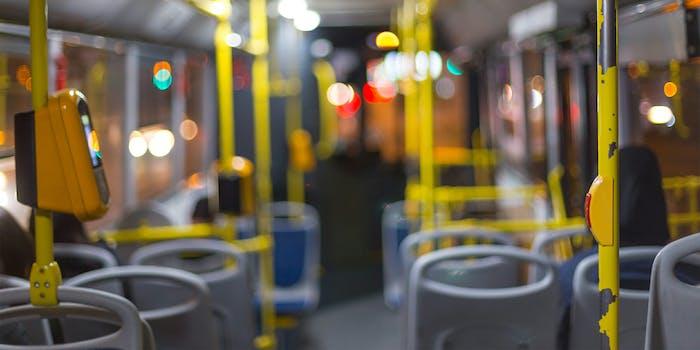 interior of london bus