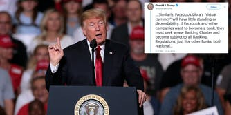 Donald Trump Facebook Libra Tweets