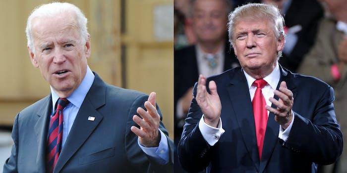 Joe Biden Donald Trump Push-Ups