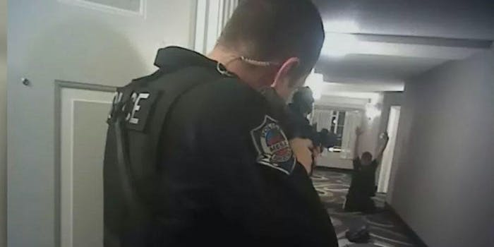 Police seen aiming a gun at an unarmed Daniel Shaver in this 2016 footage