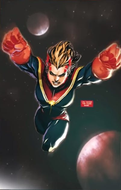 Most powerful Marvel characters - Captain Marvel