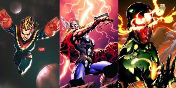 Most powerful Marvel heroes Marvel Universe Hulk Captain Marvel Thor Doctor Strange Scarlet Witch