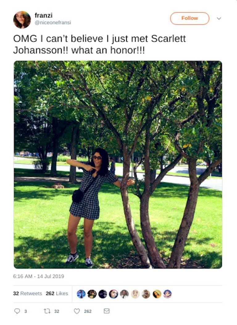 Tree Scarlett Johansson