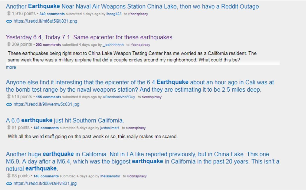 earthquake conspiracy theories