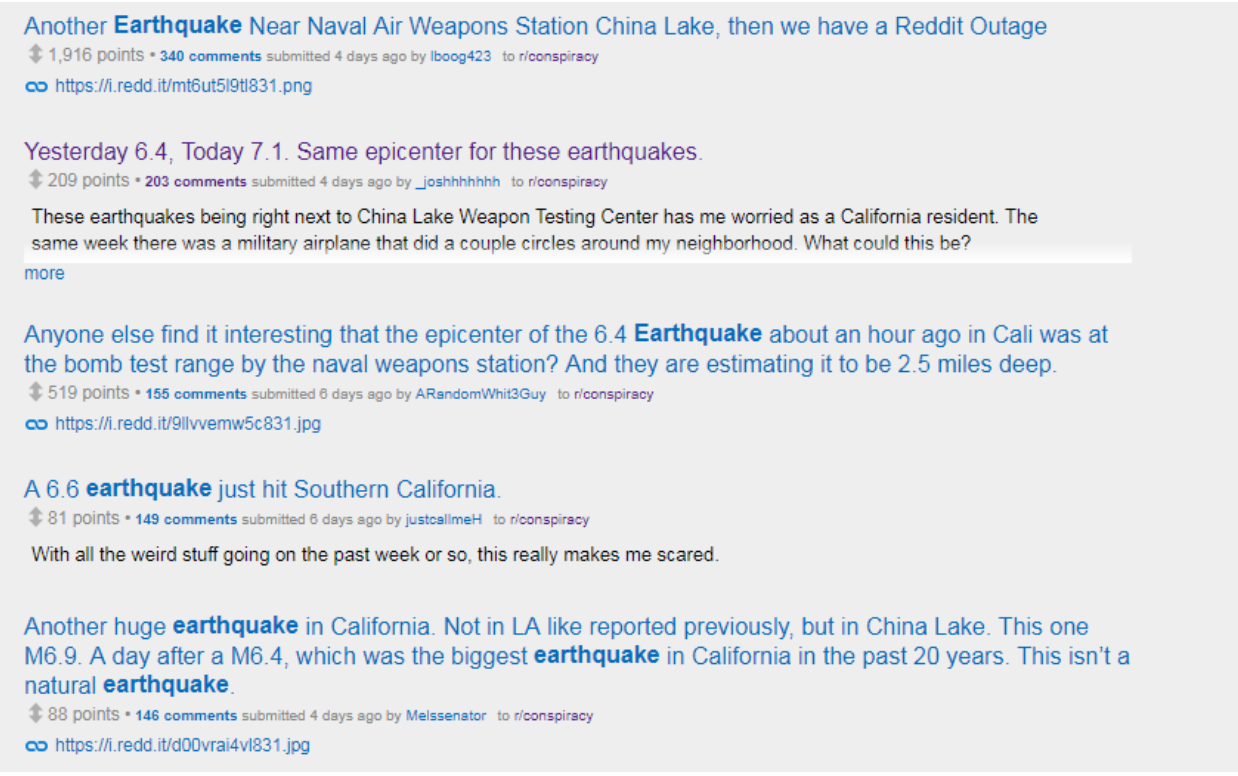 earthquake conspiracy theories