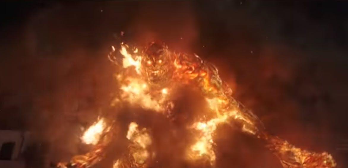 Spider-Man fire elemental