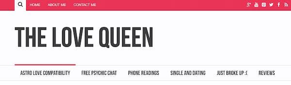 love psychic The Love Queen logo