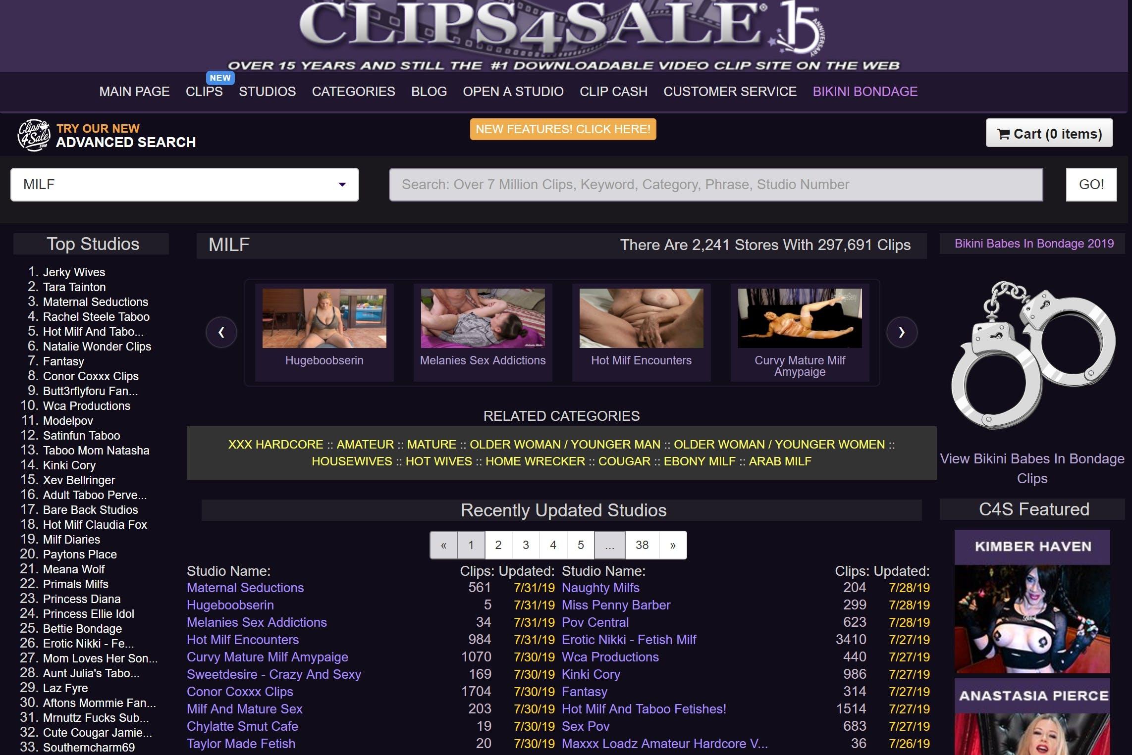 best porn clip sites - clips4sale