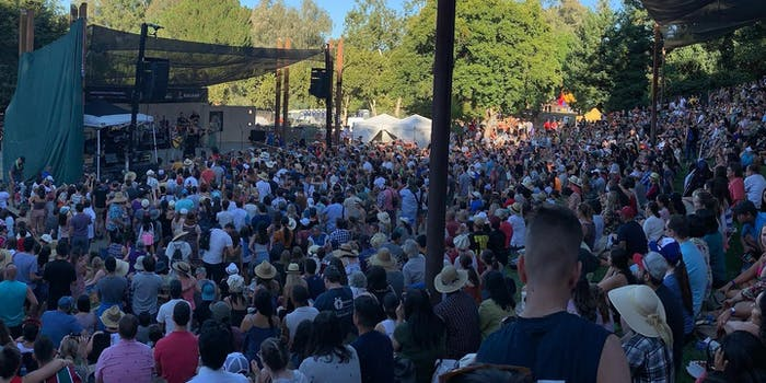 The crowd at Gilroy Garlic Fest on Saturday, day before the shooting