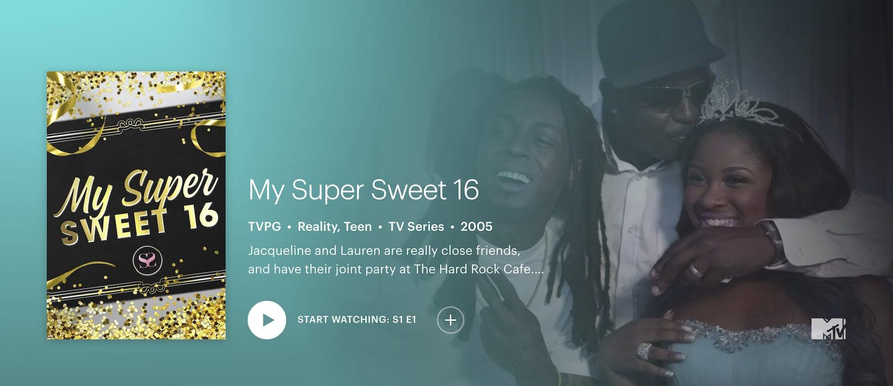 how to stream my super sweet 16 on Hulu