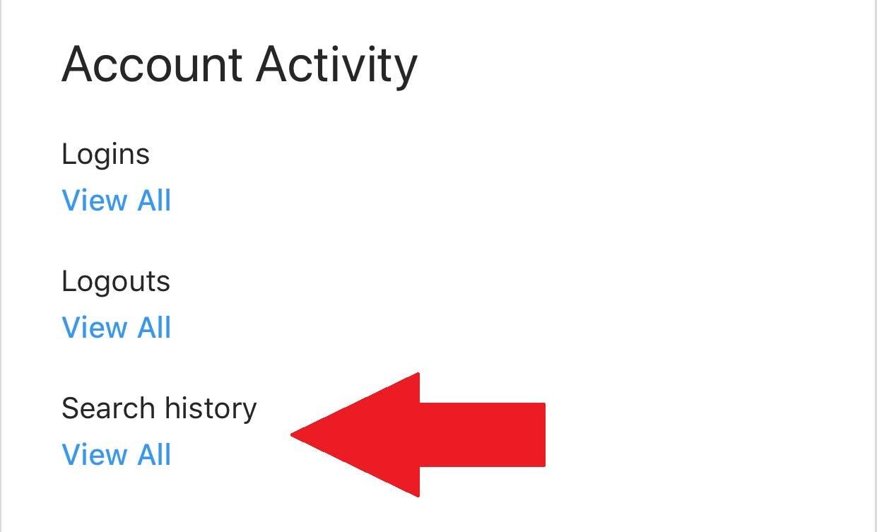 instagram account activity