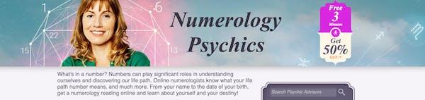 Screenshot of Kasamba's numerology reading page.