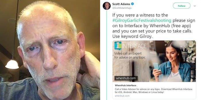 scott adams whenhub interface