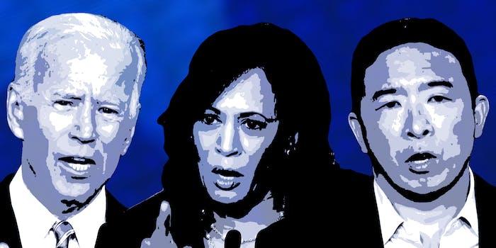 Joe Biden, Kamala Harris, Andrew Yang 2020 Democratic Debates