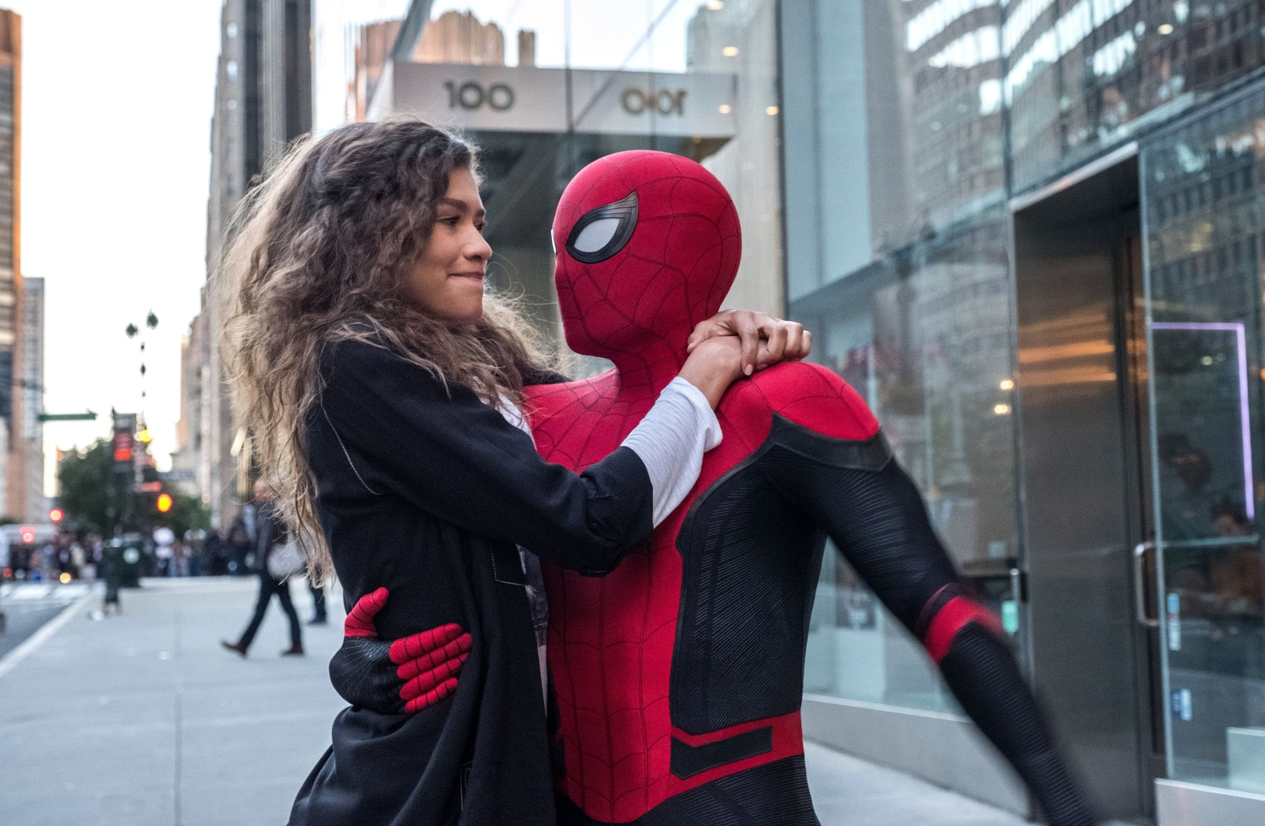 spider-man far from home mj and peter parker
