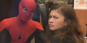 spiderman explaining to zendaya