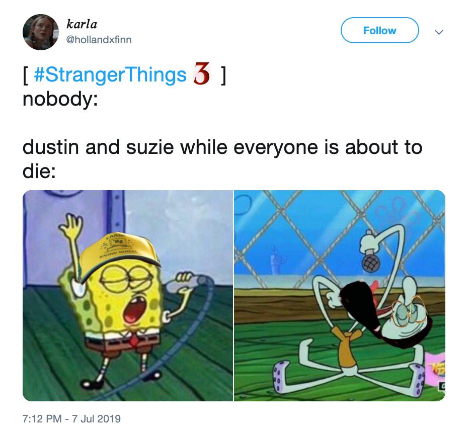 stranger things neverending story meme