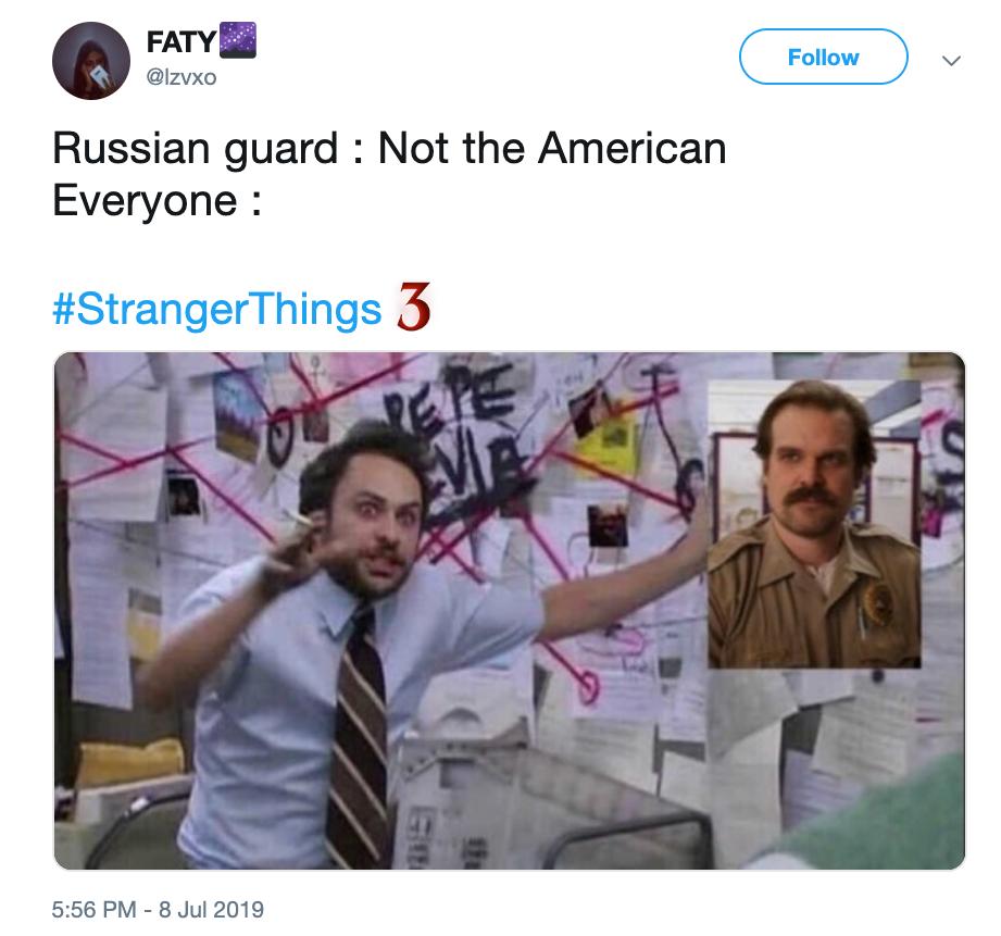 stranger things season 3 hopper memes