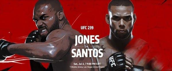 UFC 239 Jones vs Santos live stream