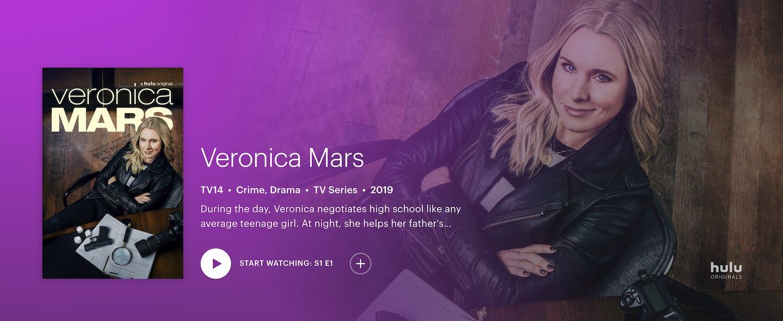 watch Veronica Mars season 4 free on hulu