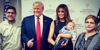 Donald Trump Thumbs Up Baby El Paso
