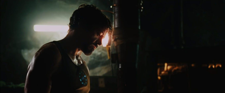 Tony creating Iron Man