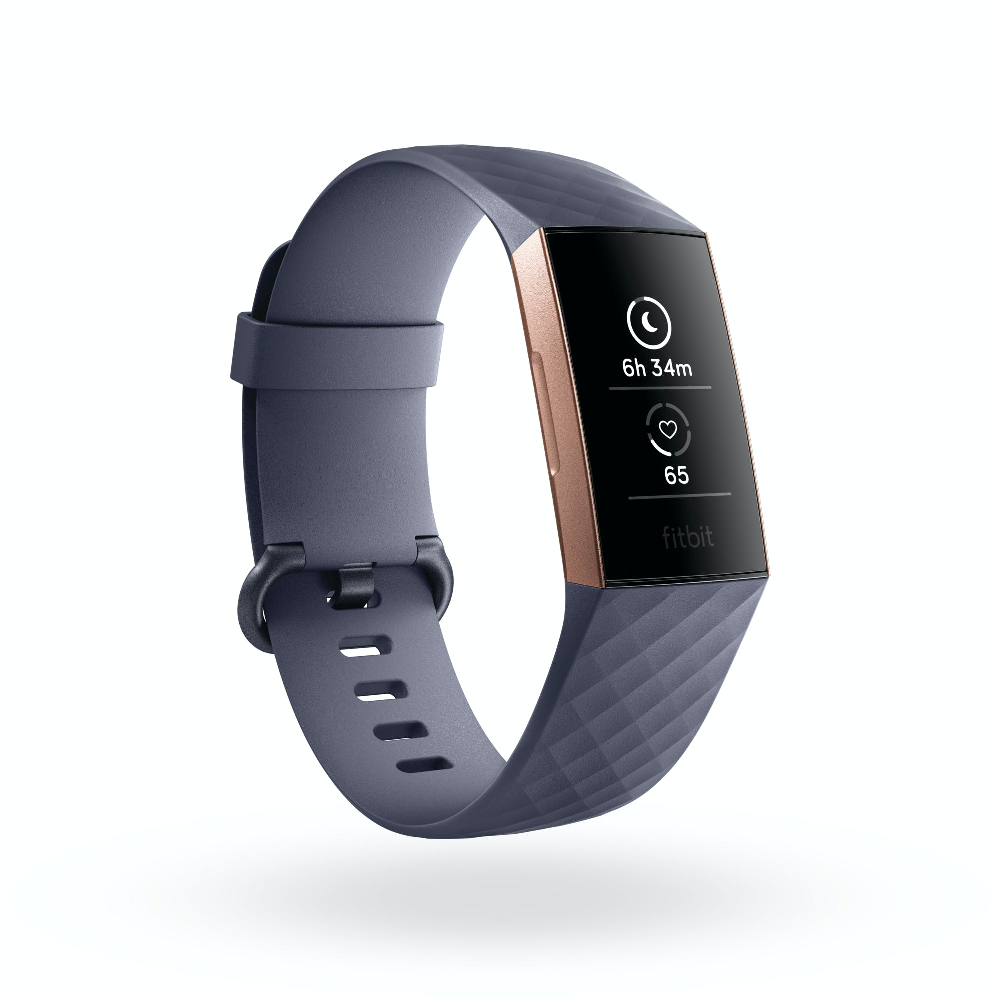 Fitbit Charge 3 showing sleep and heart rate