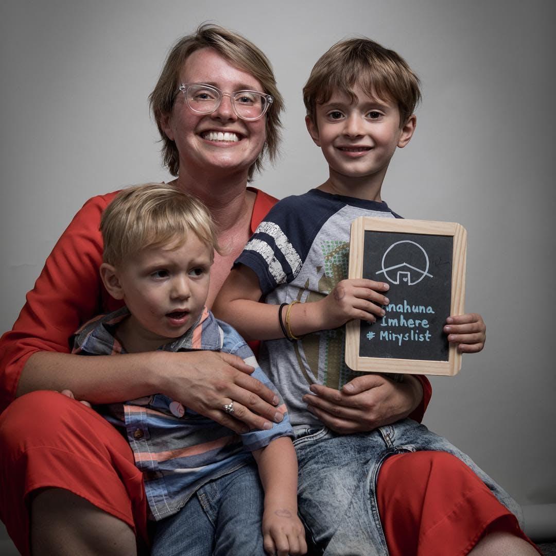 Miry Whitehill and kids