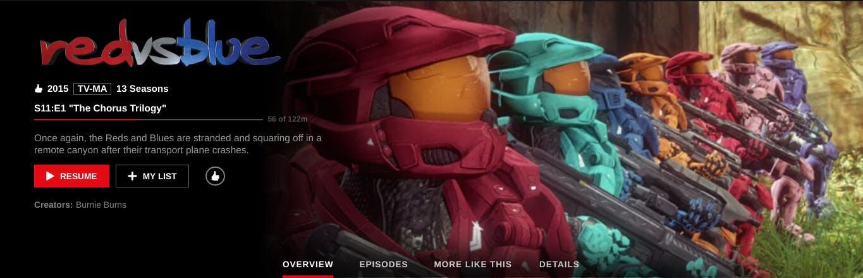 Red vs. Blue on Netflix