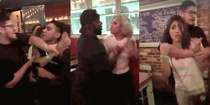 two Las Perlas bar security members assaulting three customers