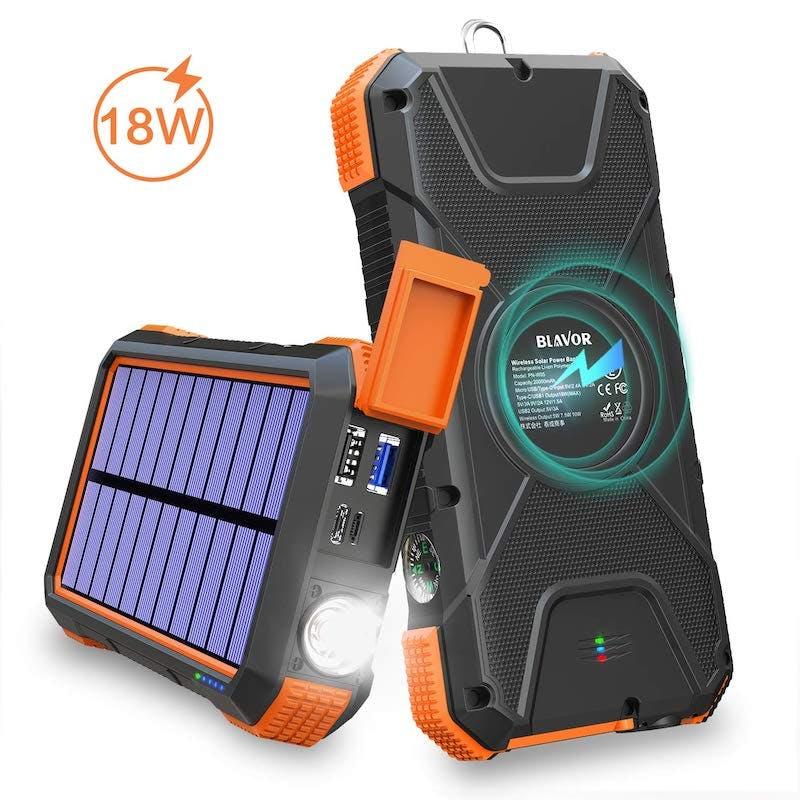 best solar-powered phone charger - blavor solar power bank