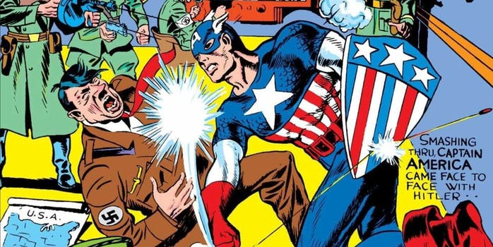 captain america political comic