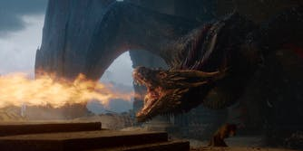 game of thrones drogon melts throne