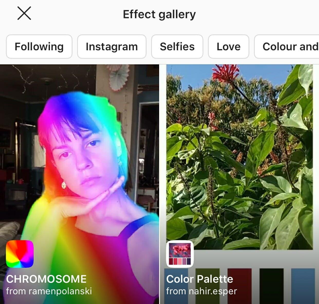 instagram effects gallery