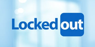 """Linkedin logo reworked to say """"Locked out"""""""