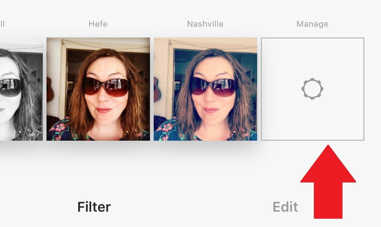 enable instagram filters