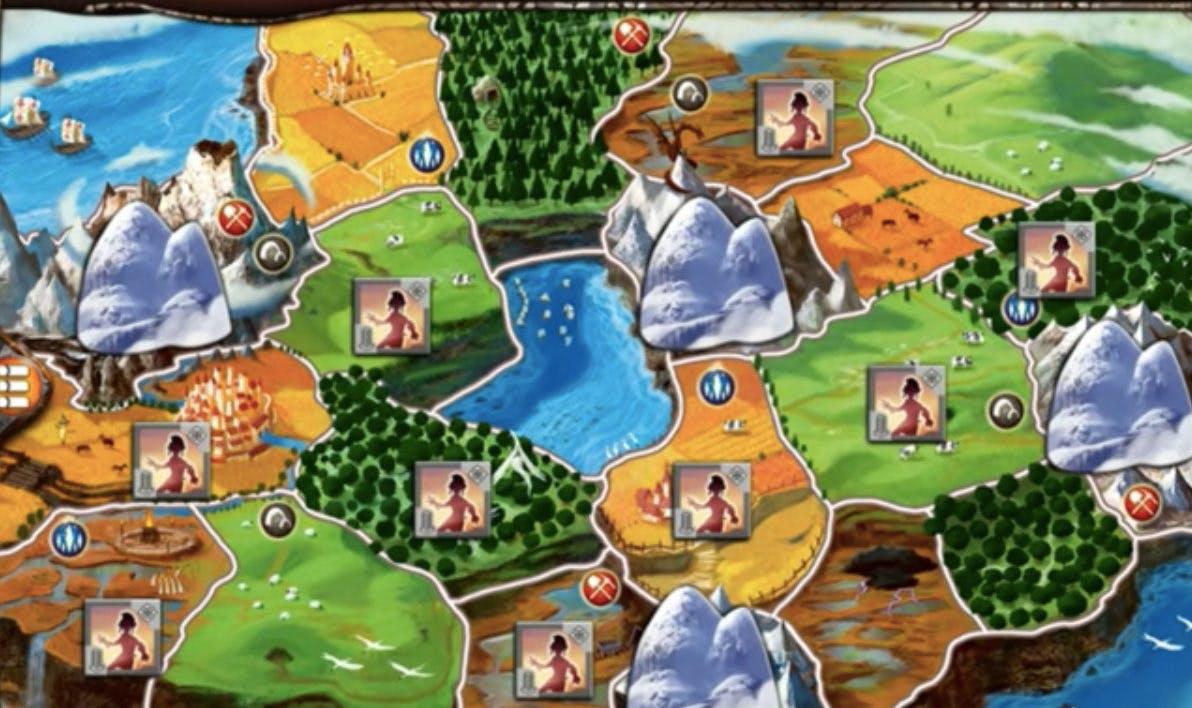 mobile board game - smallworld 2