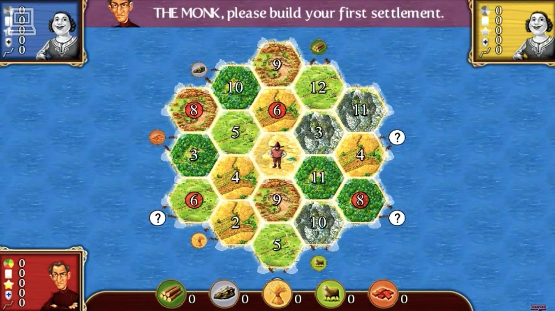 online board games - settlers of catan